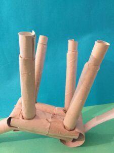 Insert 4 thinner tubes into 4 legs.