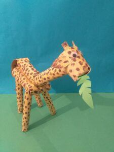 Finished giraffe with leaf.