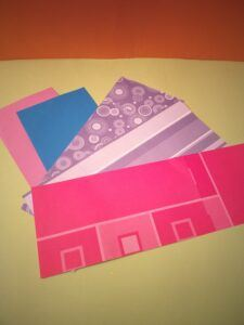 Select papers, cut approx. 10.5x26cms.