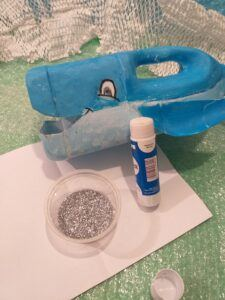 16. If you like add silver glitter use glue stick.