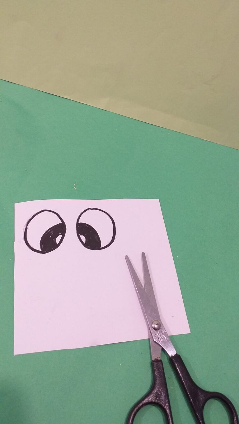 16) Draw your own bunny eyes or use template provided.