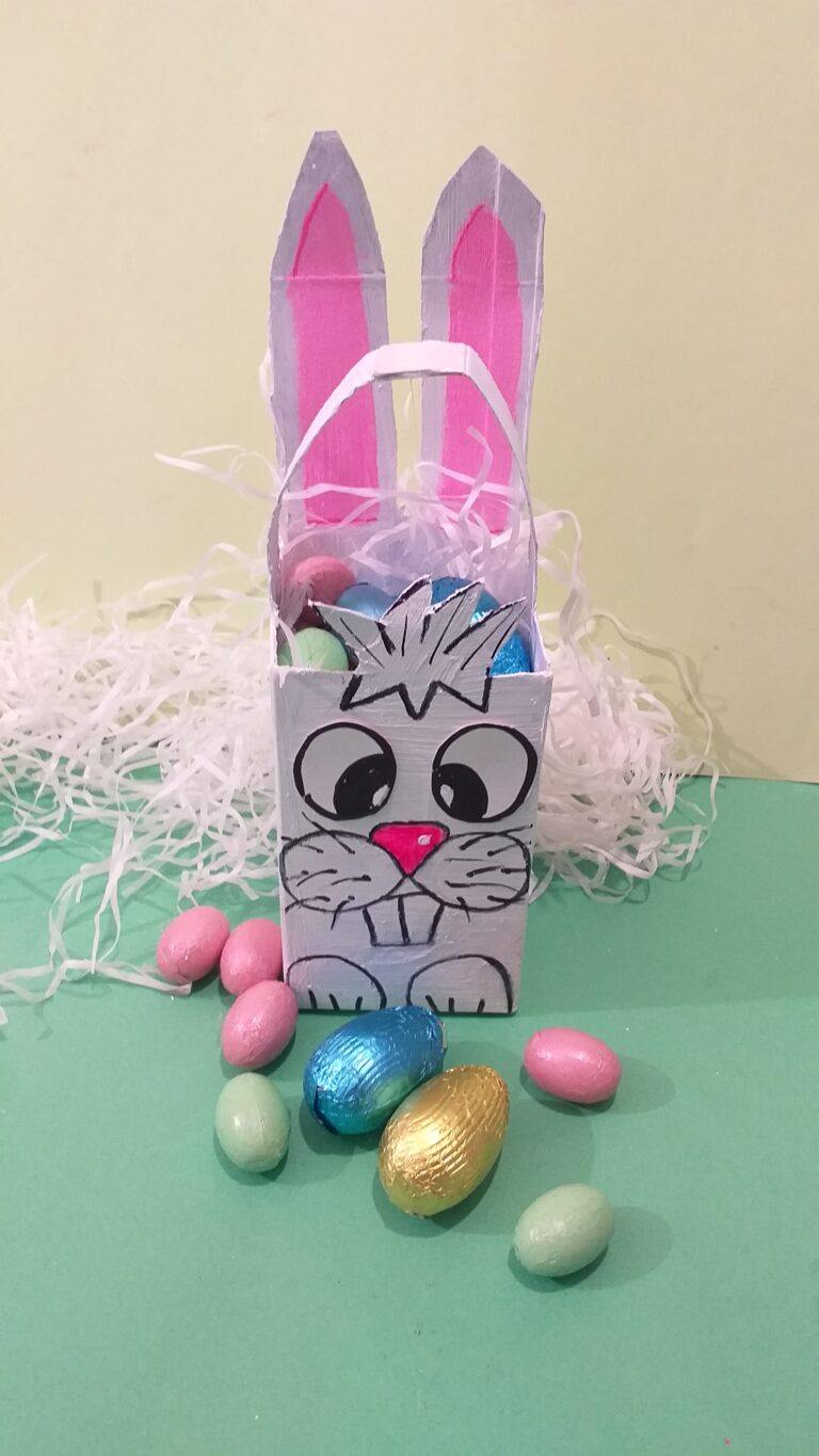 22) This is the finished Easter bunny box.