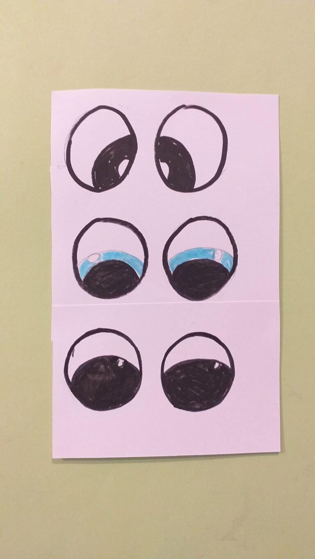 2) Print off Bunny eyes as an A4 S/S.