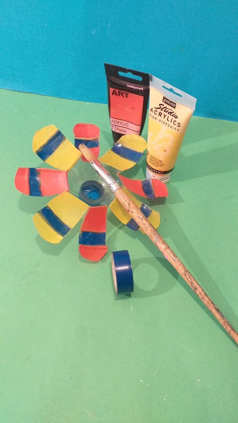 9) Or paint first, when dry then stick duck tape on the other side. Paint up to 3 times for solid colour.