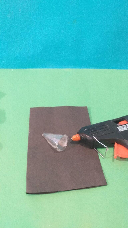 12) Hot glue back inside the lid.