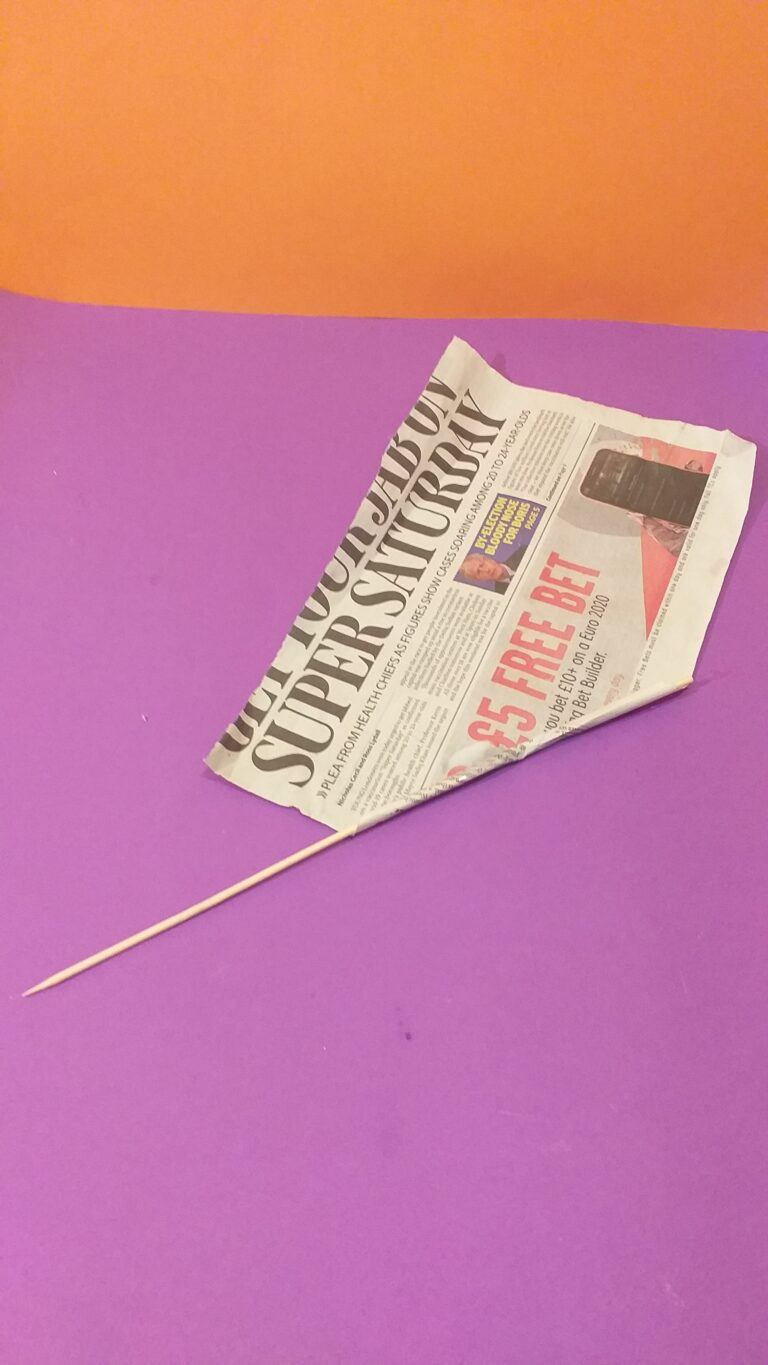 3) As you roll slowly extend skewer, so you can pull out when finished.