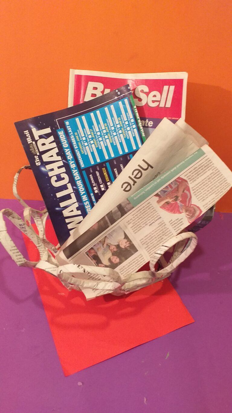 23) Use to put your newspapers in.
