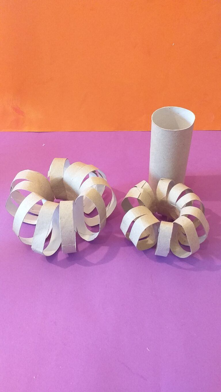 14) You can make a smaller Pumpkin with a toilet paper inner tube.