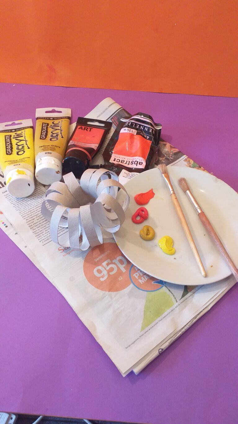 15) Now get ready to paint make up your colours and start.